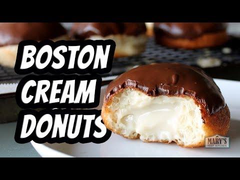 VEGAN BOSTON CREAM DOUGHNUTS | Recipe By Mary's Test Kitchen