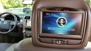 Lexus Nissan In car headrest dvd entertainment system repair invision