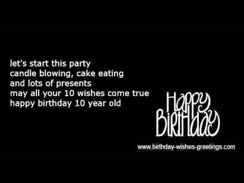 10th Birthday Wishes For Greeting Cards Youtube