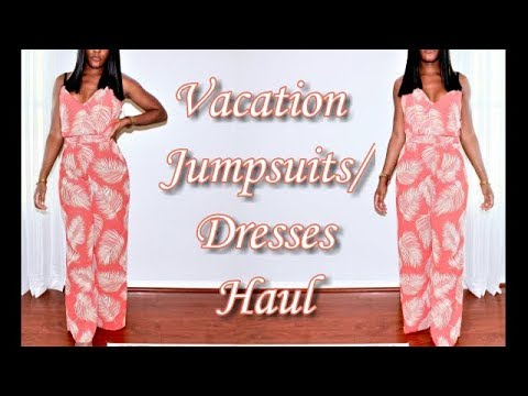 Spring Summer Vacation Outfits- Jumpsuits/Dresses for A Cruise, Beach, Poolside, Party 1