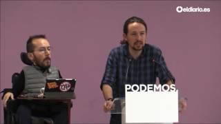 Pablo Iglesias propone Vistalegre 2 para el 10, 11 y 12 de febrero, a la vez que el congreso del PP