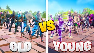 the OLD vs YOUNG Fortnite FASHION SHOW...