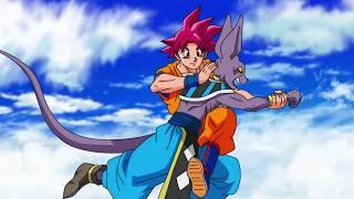 Son Gokû Super Sayan Divin vs Beerus ! DBS FR !