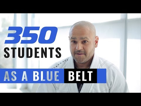 350 Students As A BJJ BLUE BELT!