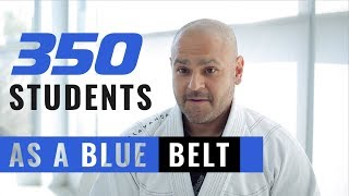 350 Students as a BLUE BELT!