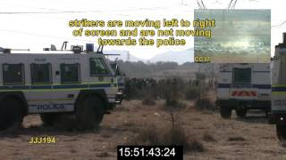 Marikana: Annexure V2  Video presentation on the movement of strikers from koppie to the kraal FINAL
