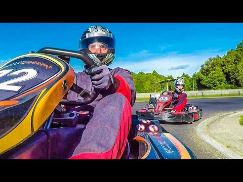 RACING 100MPH GO-KARTS! w/ Sam, Colby & Corey