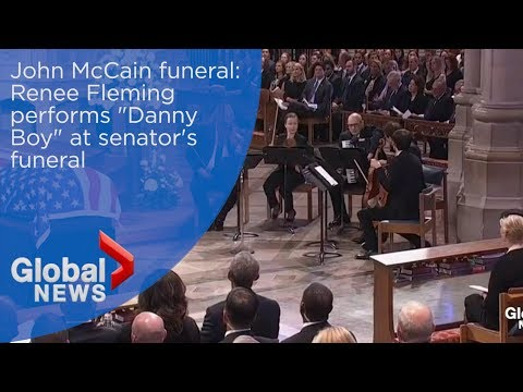 John McCain funeral: Renee Fleming performs 'Danny Boy'