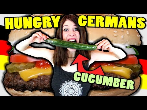 7 Kinds of HUNGRY GERMANS - feat. a cucumber - 동영상