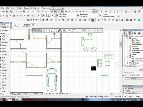 Tutorial Archicad design house complete furniture