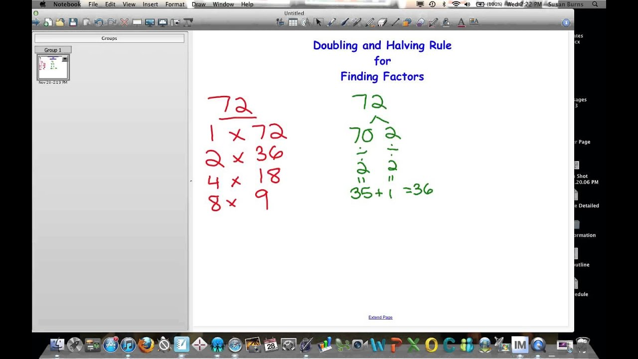 Doubling And Halving Rule