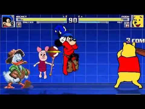 Disney Rumble (1) Mickey Mouse And Donald Duck Vs Pooh And Piglet MUGEN