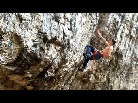 Jim Pope climbing video Kaabah 8c+ Raven Tor