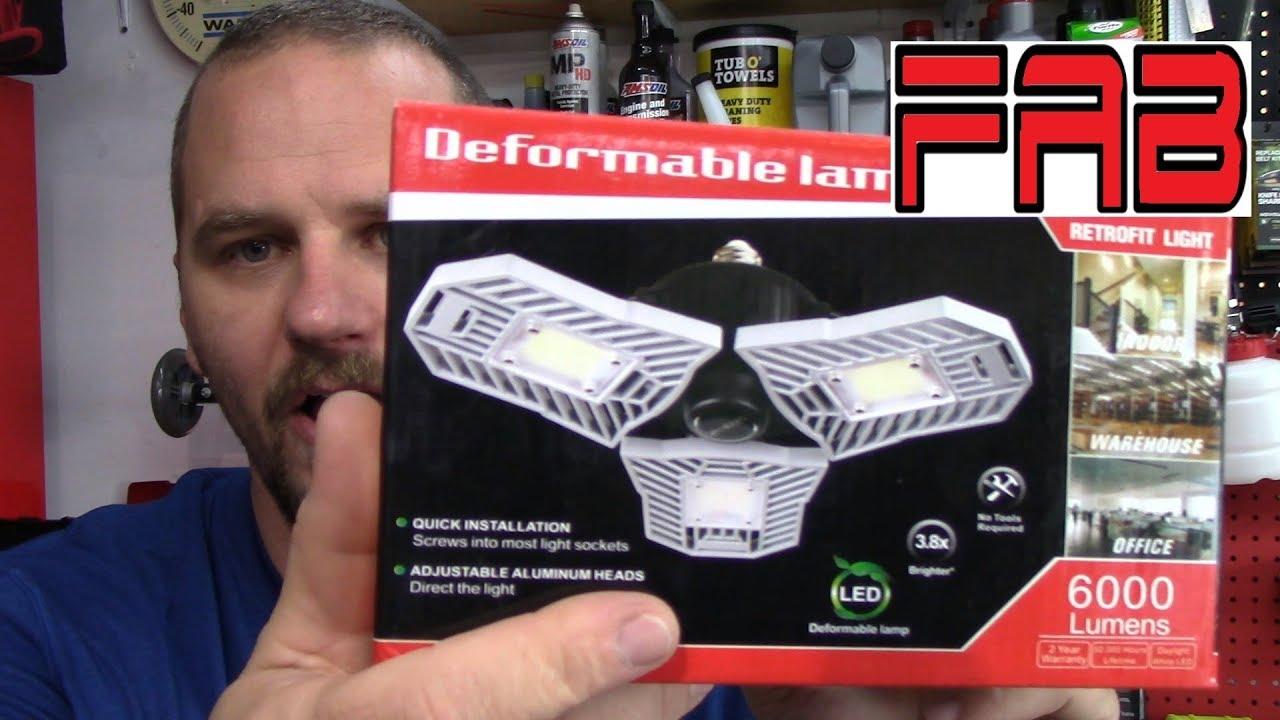 E26//E27 LED Shop Light Bulb for Workshop Basement and Warehouse 2PACK 10000 Lumens Daylight LED Light Bulbs ELIVERN 100W LED Garage Lights Deformable Garage Ceiling Lights