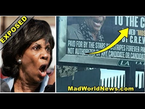 BILLBOARD POPS UP ON BUSY CALIFORNIA HIGHWAY OVERNIGHT 4 WORDS MAKE MAXINE WATERS PANIC!