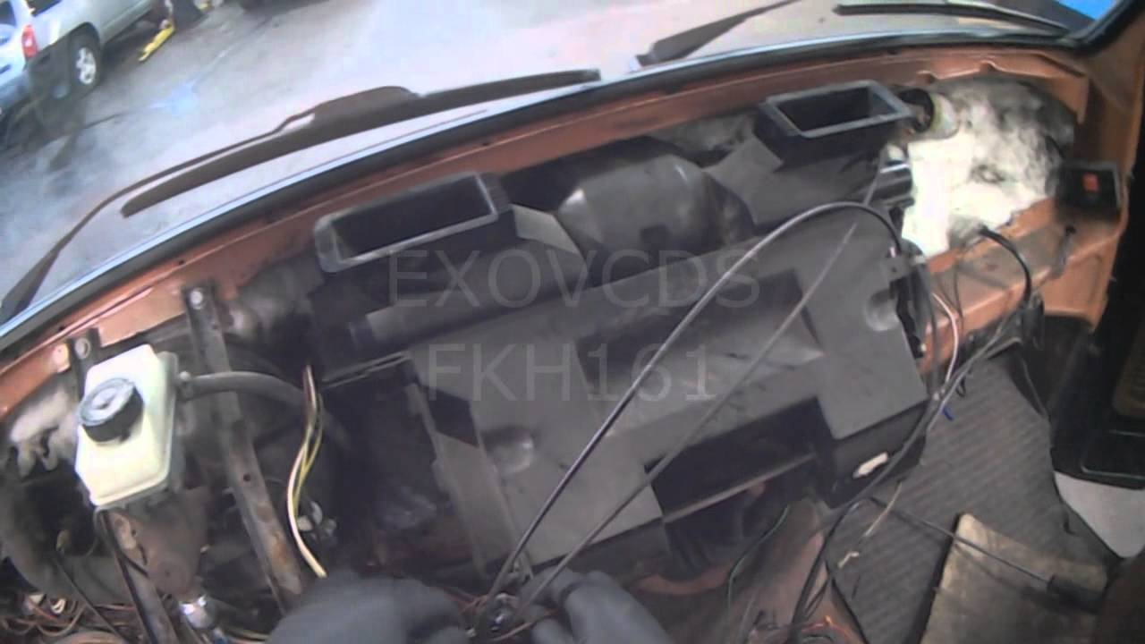 Vw T3 Dash Removal For Heater Core Replacement Youtube
