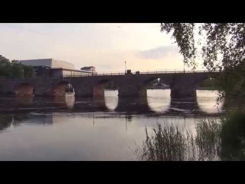 Sveriges längsta stenbro i Karlstad. HD 1080p