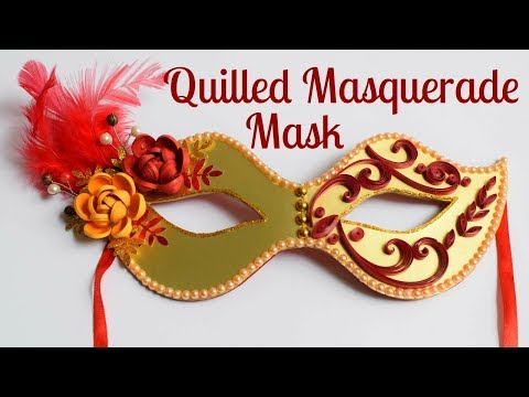Quilling Party Eye Mask/ Quilled Masquerade Mask