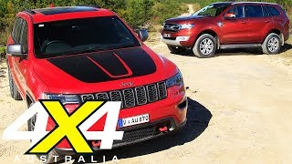 2017 Jeep Grand Cherokee Trailhawk vs 2017 Ford Everest Trend review | 4X4 Australia