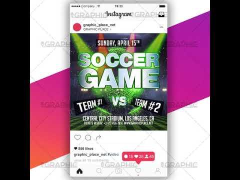 Soccer Game - Social Media Video Template for Instagram
