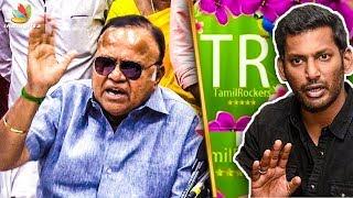 Reveal the Tamilrockers : Radha Ravi angry speech on Vishal  radha ravi latest speech