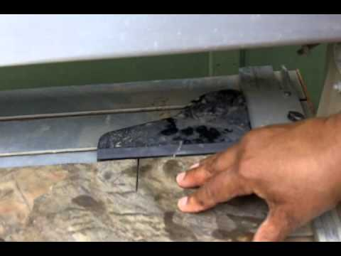 How To Use A Wet Saw Cut Slate Tile