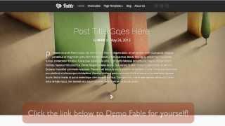 Fable WordPress Theme Review by Elegant Themes Reviews