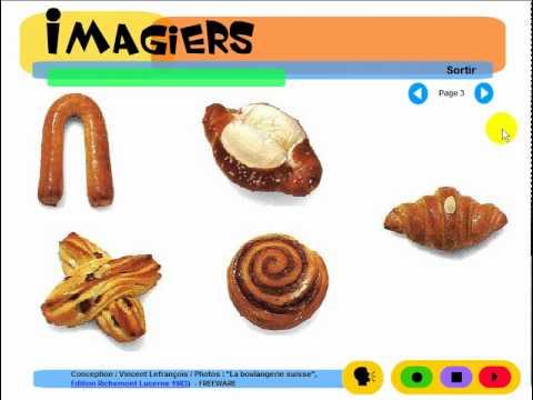 프랑스어 알아보기 = Imagiers = Vocabulaire = La boulangerie suisse