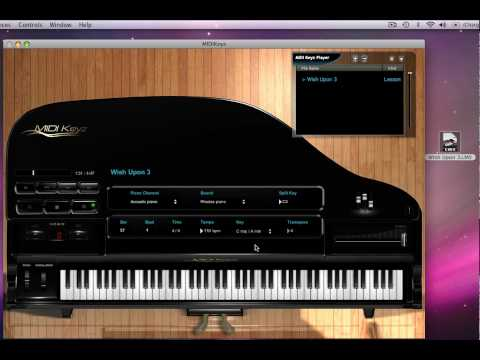 MIDIKeyz Keyboard and Piano Instructional Software Demo Tutorial - NEW LMS Files