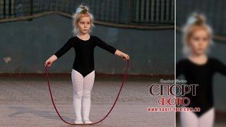Художественная гимнастика. Показательное выступление самых маленьких участниц