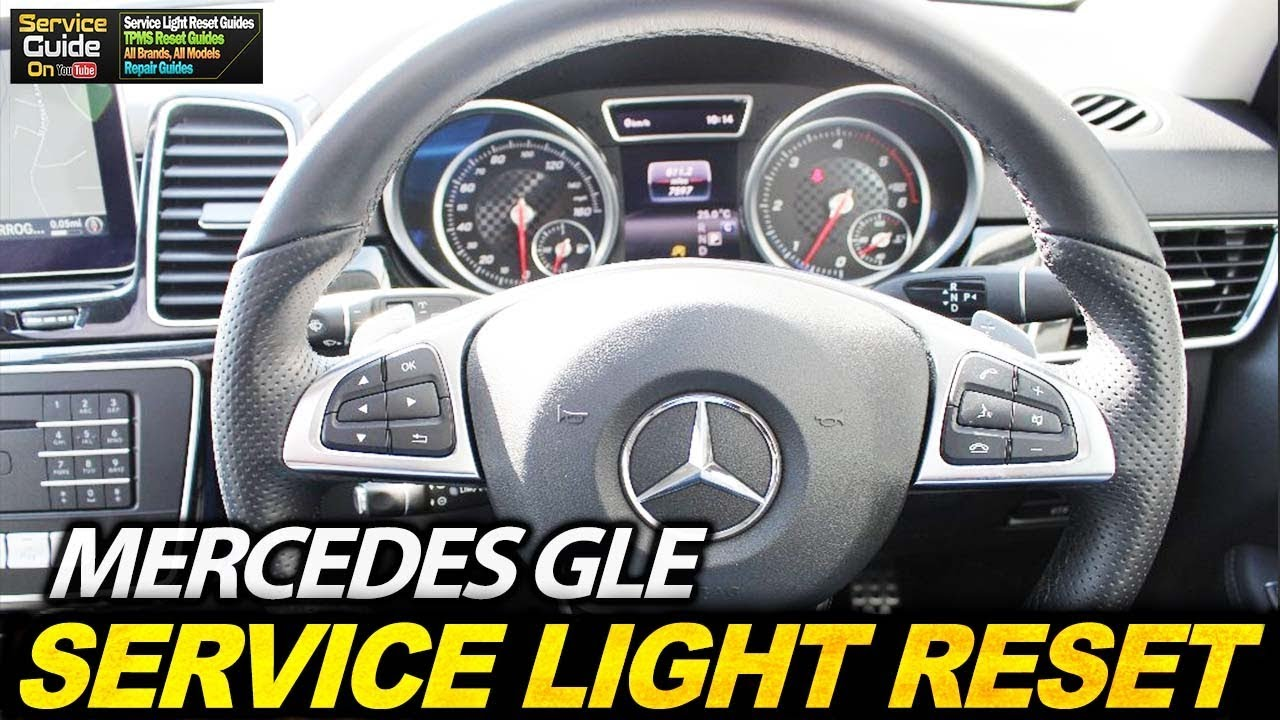 Mercedes GLE - Service Light Reset - YouTube