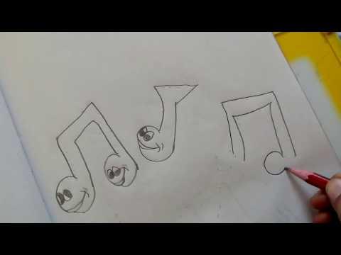 How to Draw Cartoon Music Symbols