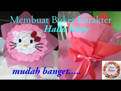 diy|-how-to-make-bouquet-character-buket-karakter-hello-kitty