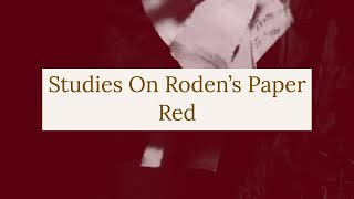 Studies On Roden's Paper: Red, Experimental Video Art and Music by Collin Thomas