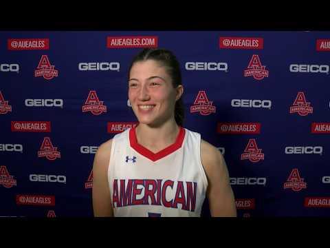 @AU_WBasketball Postgame Vs. Army - Emily Fisher
