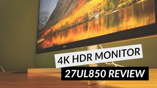 LG 27UL850 Review - The Best 4K HDR Monitor For 2020
