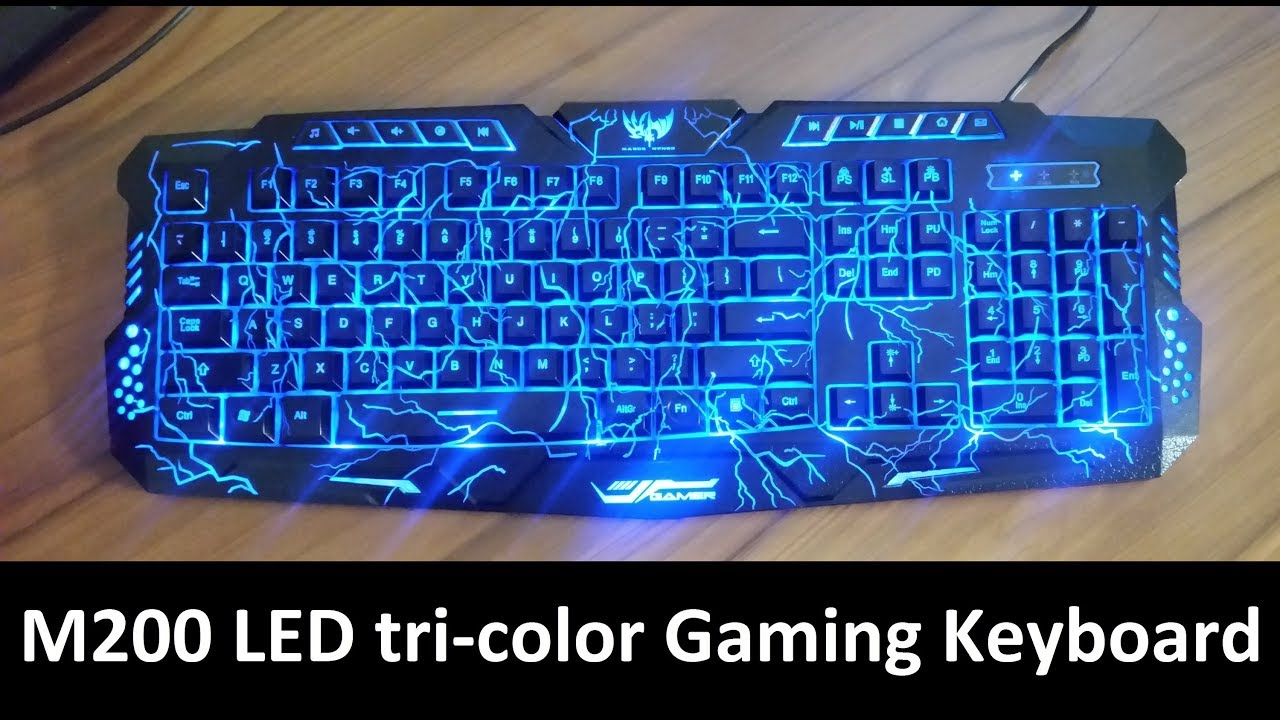 7353df3ba38 Gaming Keyboard, BlueFinger Mechanical Computer Keyboard USB Wired LED 3  Color Red/Blue/Purple Backlit Gamer lighted Keyboard with Customized  MousePad ...