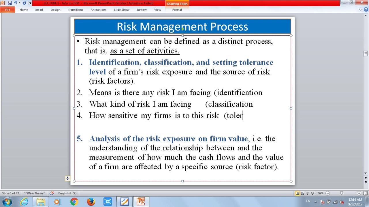 Risk Management Risk Definition Types Risk Management Process - Types of risk management