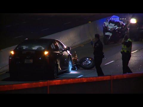 PCH Motorcycle Crash / Santa Monica  RAW FOOTAGE