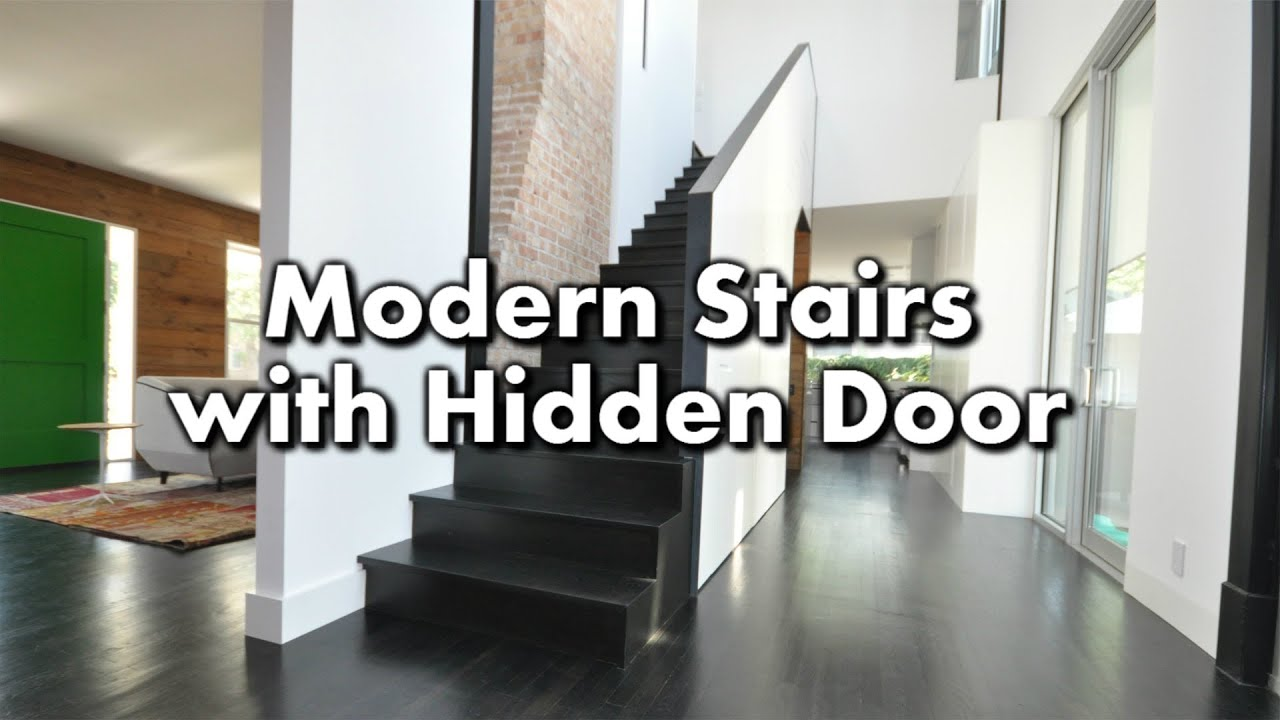 Modern Stairs With A Hidden Closet Youtube