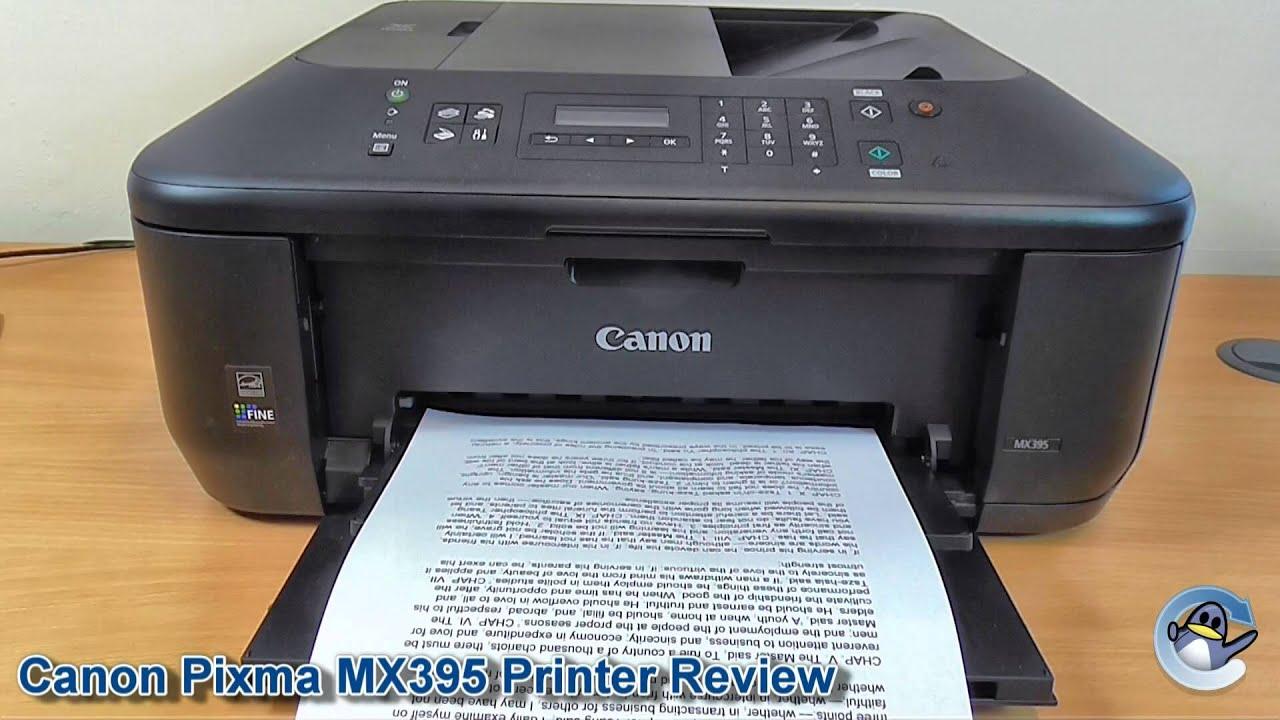 canon pixma mx395 printer review youtube. Black Bedroom Furniture Sets. Home Design Ideas