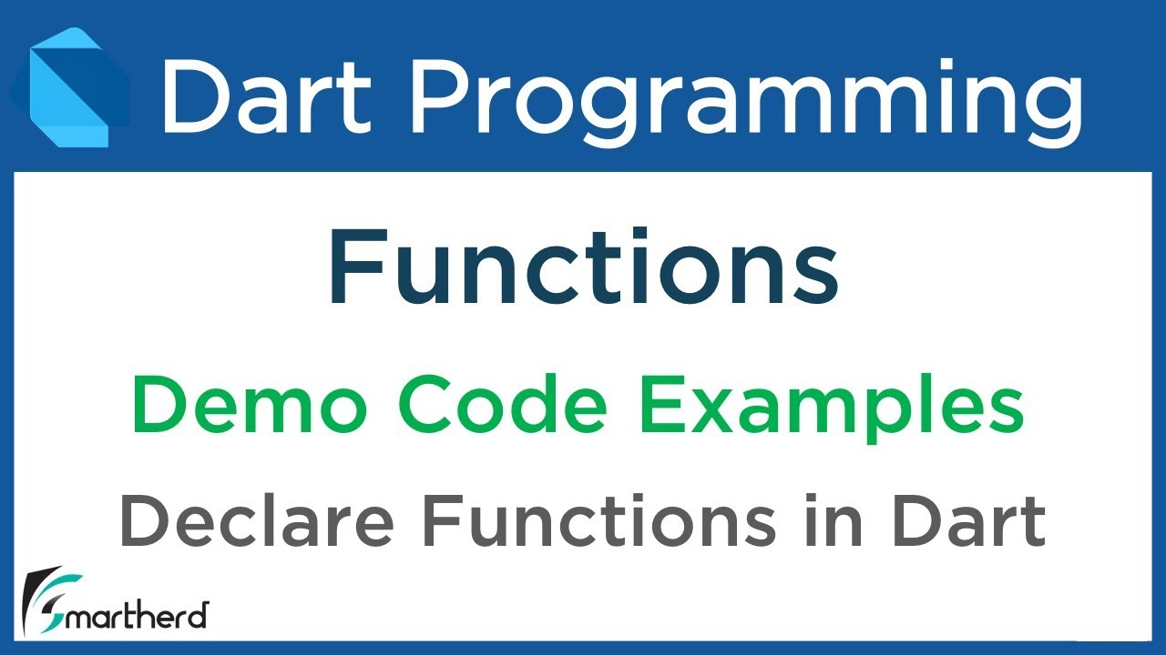 #6 2 Dart Functions or Methods example  Dart Programming for Flutter