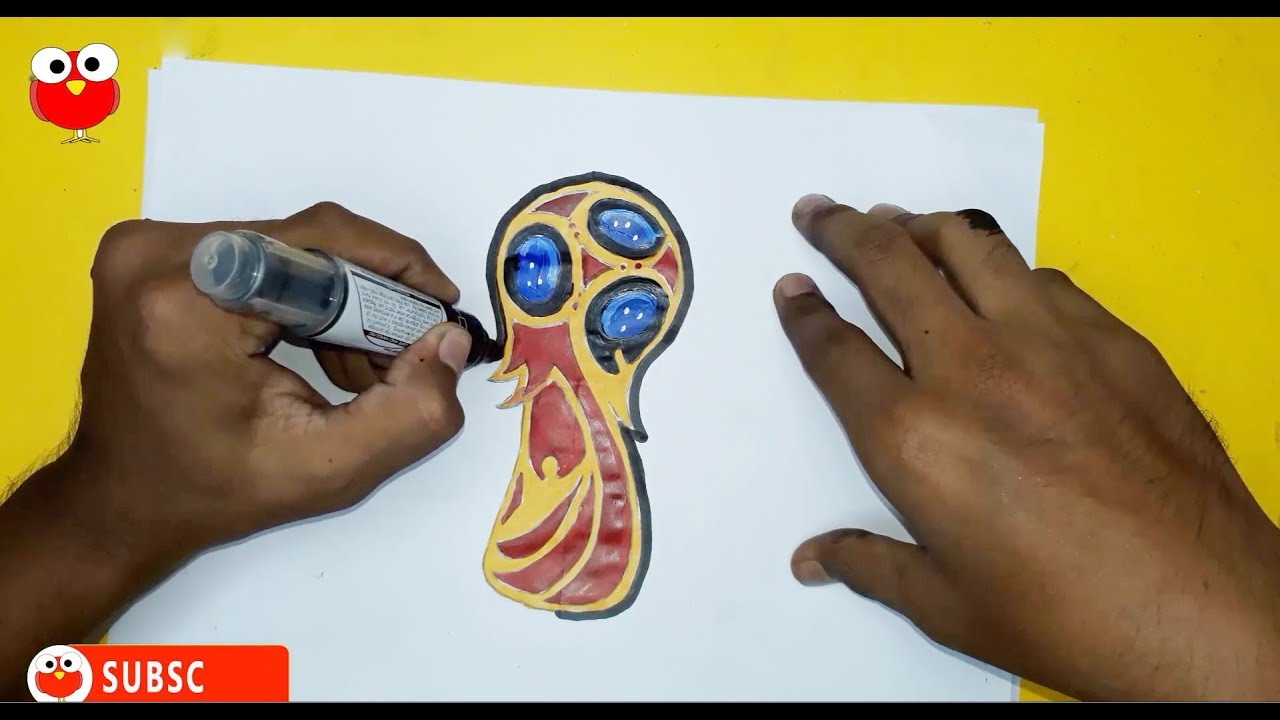 How To Draw Fifa World Cup 2018 Russia Fifa Trophy Drawing Step