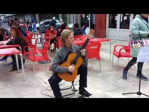 Uruguay (Montevideo) Music-Art-Culture 2| Awesome Street performance | Nylon string guitar player