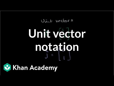 Unit vector notation | Vectors and spaces | Linear Algebra | Khan Academy