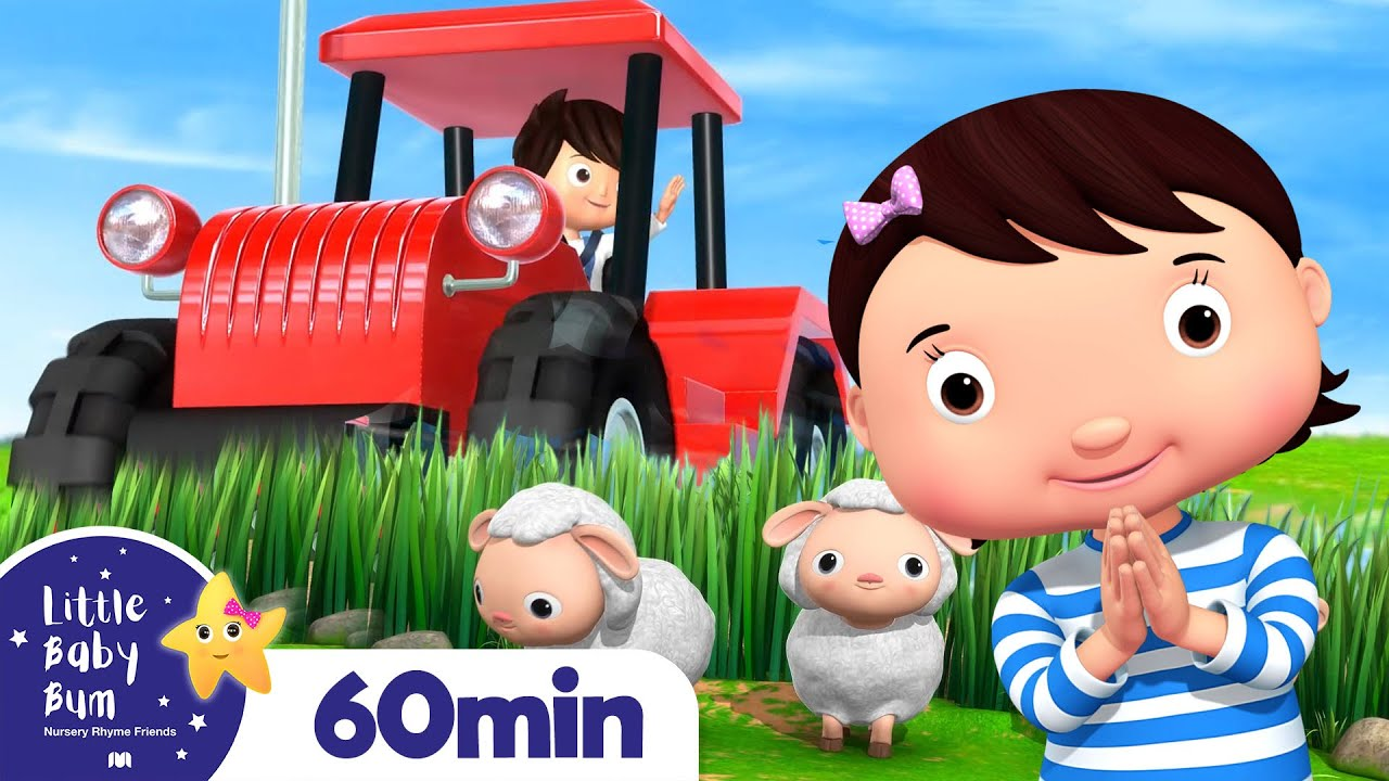 Tractor Song | Vehicle Songs for Kids | +More Nursery Rhymes | ABCs and 123s | Little Baby Bum