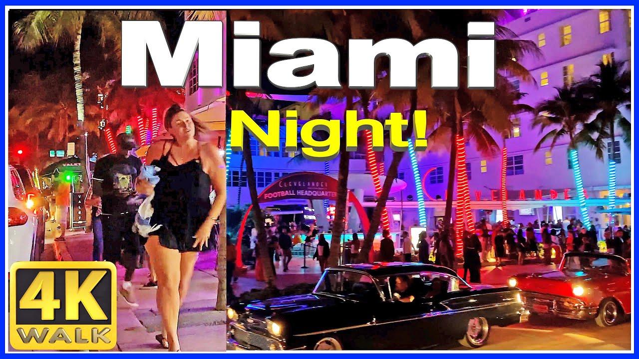Download 4K VIDEO WALK Ocean Drive SOUTH BEACH Miami Beach 4K Florida USA