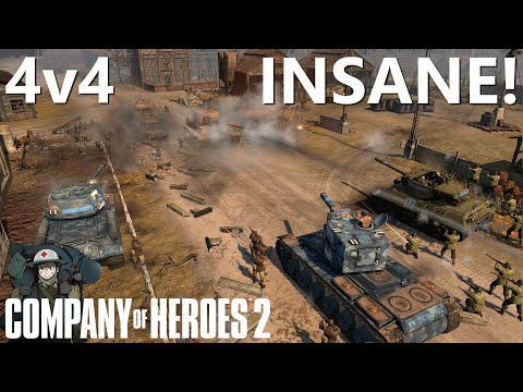 CoH2: INSANE 4v4! (Company Of Heroes 2)