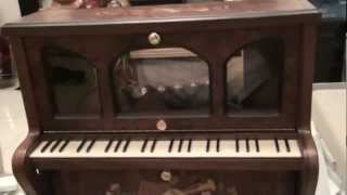 Piano Reuge music box play 3 songs!