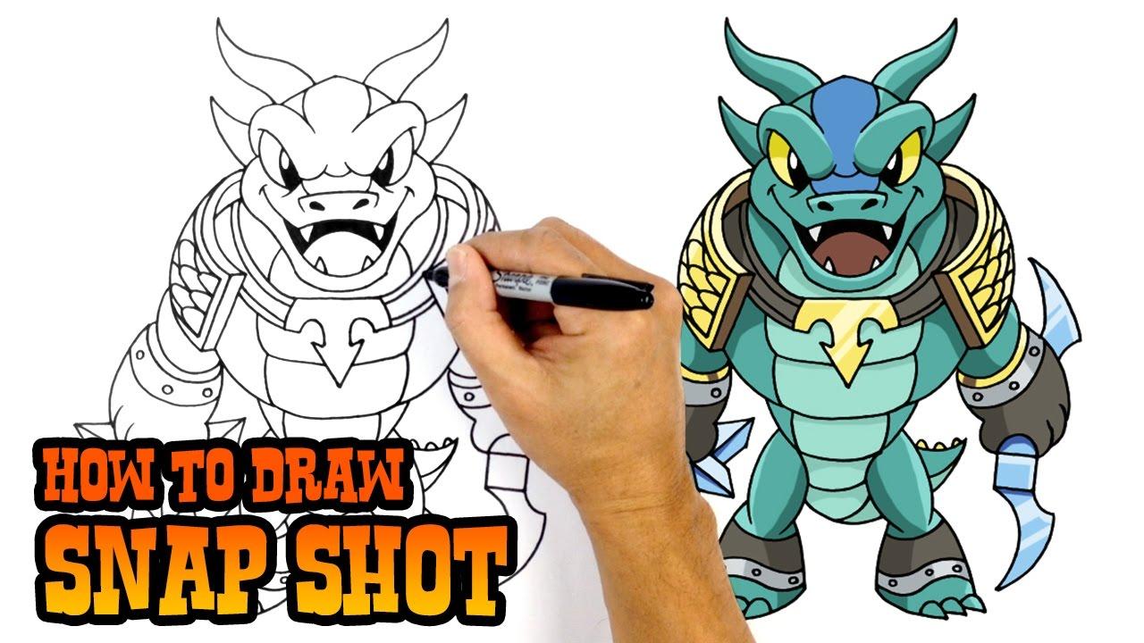 how to draw snap shot skylanders youtube